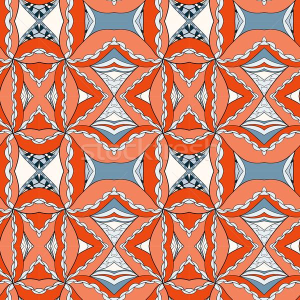 Absztrakt végtelenített dísz minta kaleidoszkóp hatás Stock fotó © LittleCuckoo