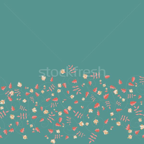 василек шаблон вектора бесшовный текстуры природы Сток-фото © LittleCuckoo
