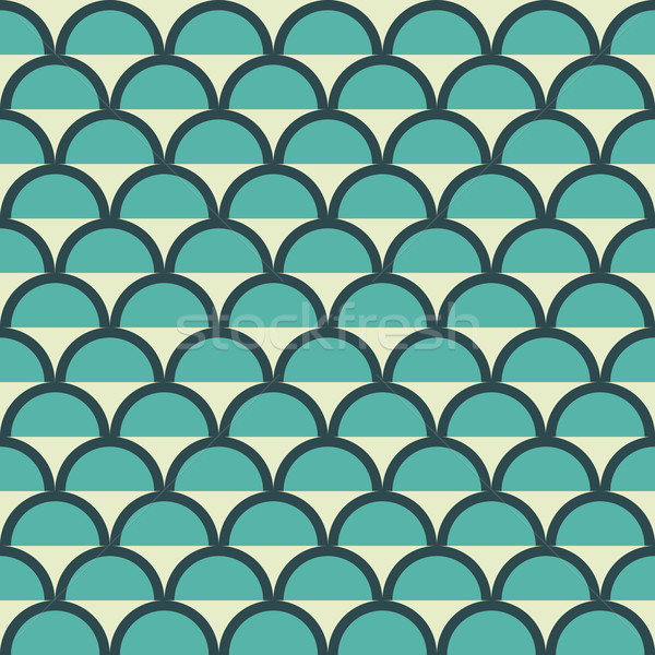 геометрия вектора шаблон круга бесшовный орнамент Сток-фото © LittleCuckoo