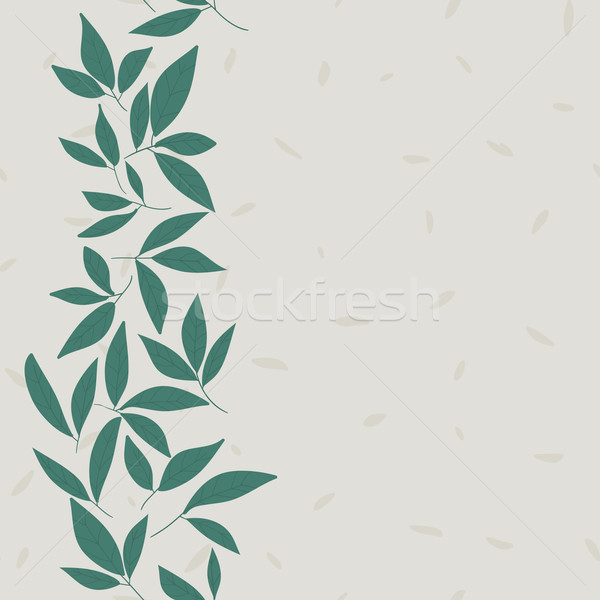 Folha vetor padrão sem costura rabisco flores Foto stock © LittleCuckoo