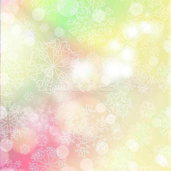 Nieuwjaar Blur sneeuwvlokken partij sneeuw ruimte Stockfoto © LittleCuckoo