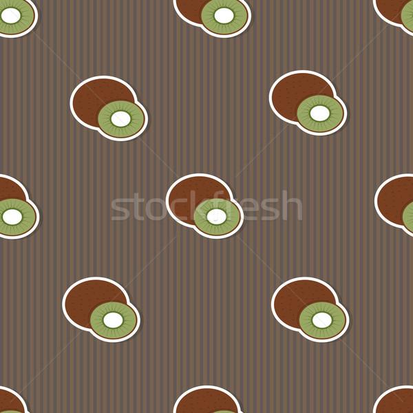 Kiwi pattern senza soluzione di continuità texture maturo natura Foto d'archivio © LittleCuckoo