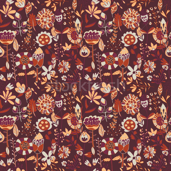Flower pattern, seamless texture Stock photo © LittleCuckoo