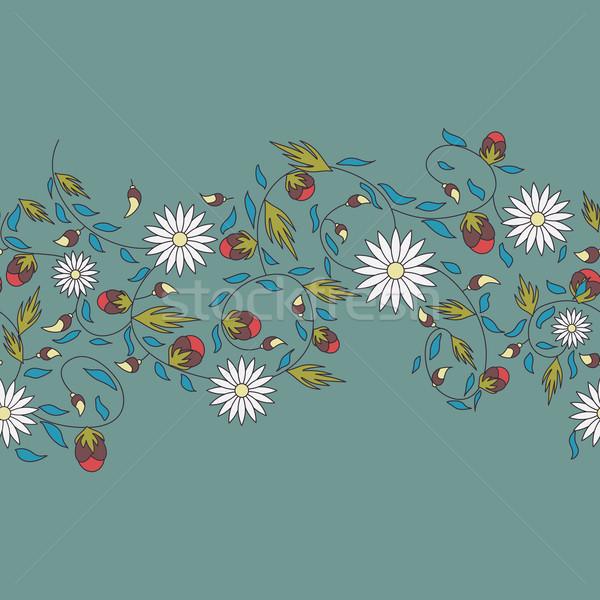 Girassol flor sem costura natureza fundo beleza Foto stock © LittleCuckoo
