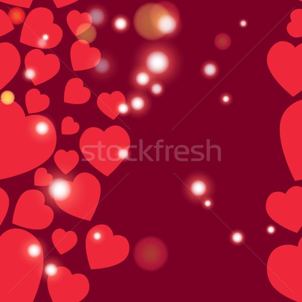Valentine model doku kalpler sevgililer günü Stok fotoğraf © LittleCuckoo