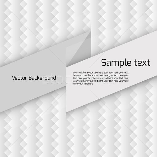 Biały geometryczny wzór miejsce tekst komputera świetle Zdjęcia stock © LittleCuckoo