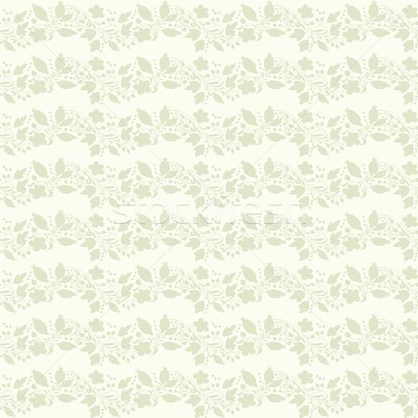 Neutralny beżowy roślin tapety kwiatowy ozdoba Zdjęcia stock © LittleCuckoo