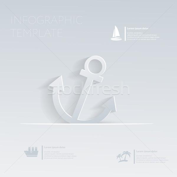 Ancora vacanze modello infografica sito layout Foto d'archivio © LittleCuckoo