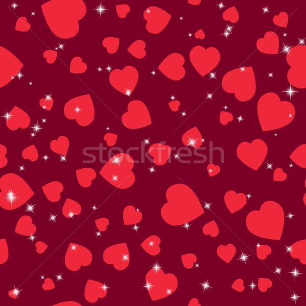 San valentino pattern senza soluzione di continuità texture cuori san valentino Foto d'archivio © LittleCuckoo