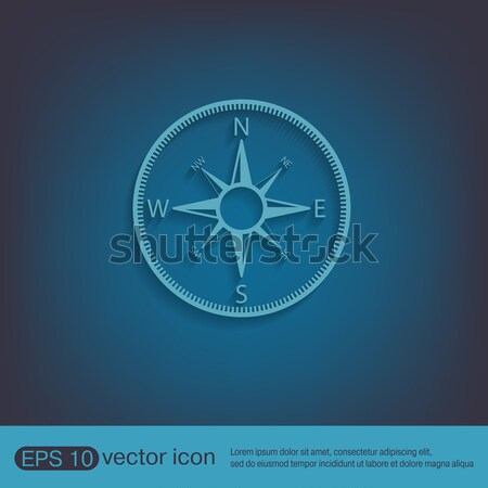 icon in crystal style, compass Stock photo © LittleCuckoo