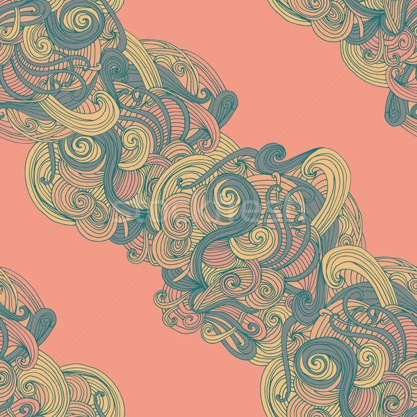 Abstrato sem costura padrão de onda padrão superfície textura Foto stock © LittleCuckoo