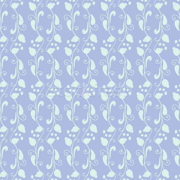 Neutro floral ornamento azul planta Foto stock © LittleCuckoo