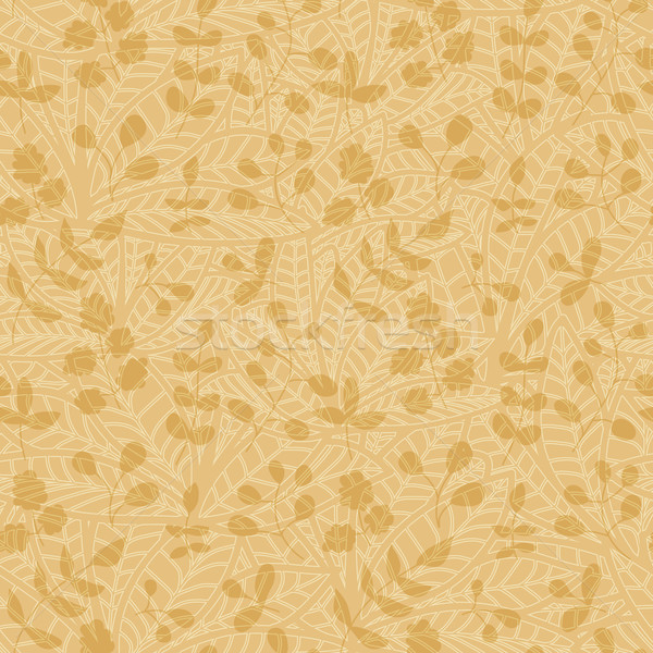 neutral floral wallpaper. plant swirls and curves Stock photo © LittleCuckoo