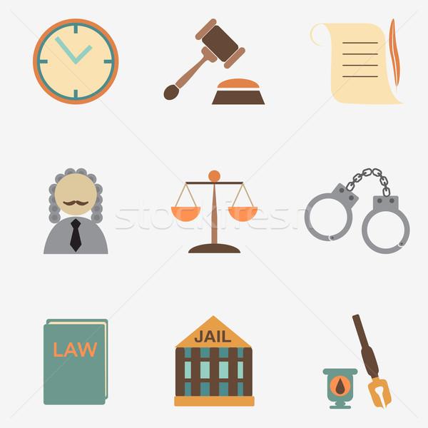 Recht Richter Gerechtigkeit Zeichen Buch Stock foto © LittleCuckoo