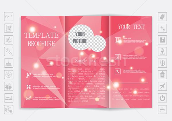 パンフレット アップ デザイン 要素 企業 ストックフォト © LittleCuckoo