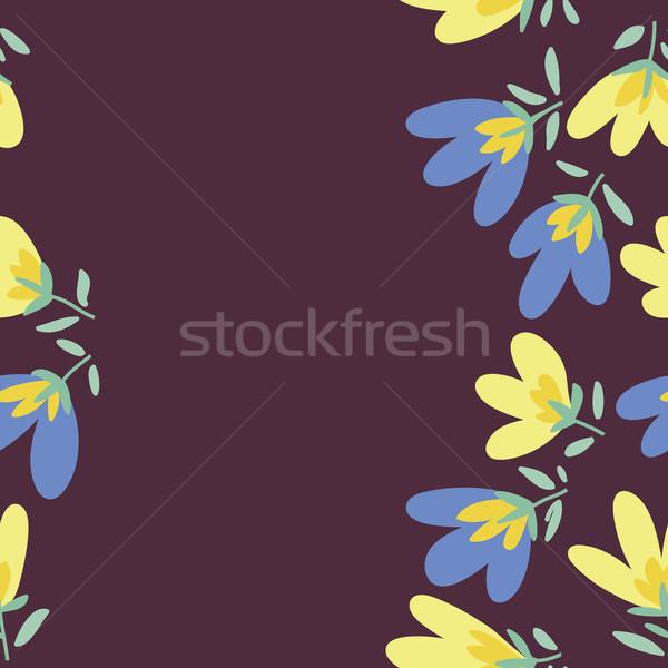 Virágminta tavasz vektor firka virágmintás minta Stock fotó © LittleCuckoo