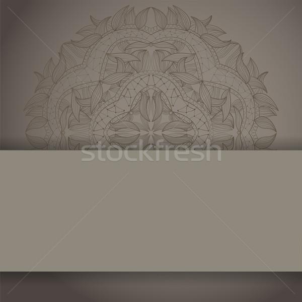 Csipke kör kézzel rajzolt dísz háttér üdvözlőlap Stock fotó © LittleCuckoo