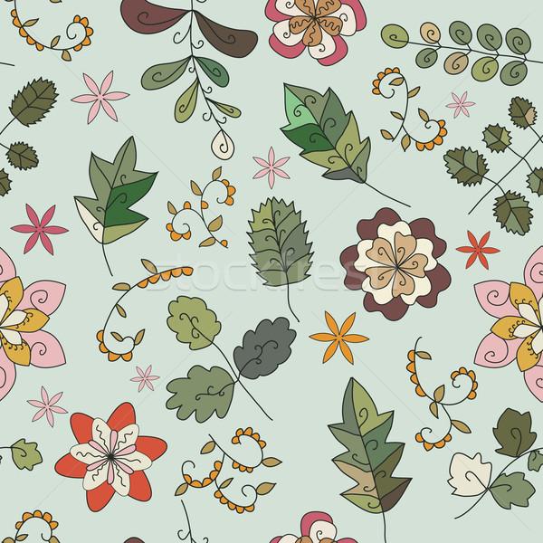 завода текстуры футуристический фантастический цветы бесшовный Сток-фото © LittleCuckoo