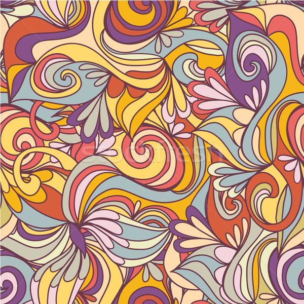 Sem costura onda padrão ondas usado papel de parede Foto stock © LittleCuckoo