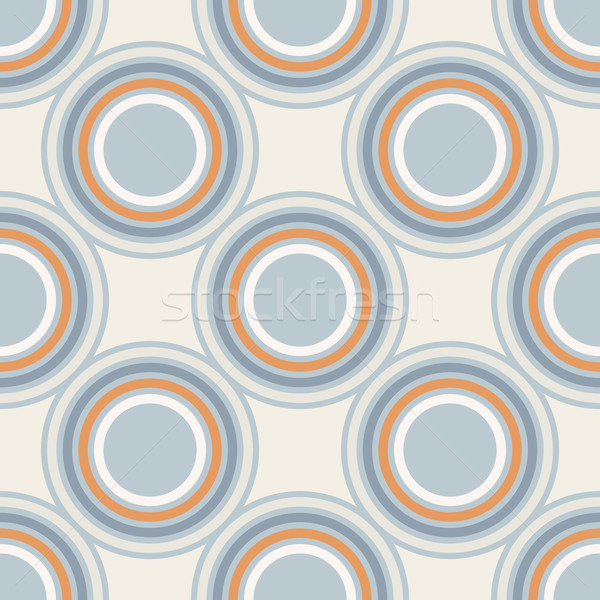 geometry vector pattern. circle seamless ornament  Stock photo © LittleCuckoo