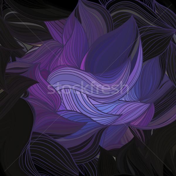 Vettore abstract modello onda foglia sfondo estate Foto d'archivio © LittleCuckoo
