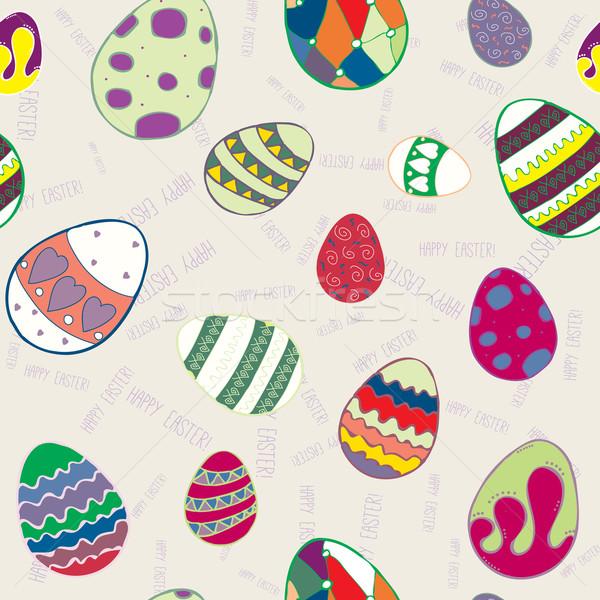 Seamless texture of decorative eggs Stock photo © LittleCuckoo