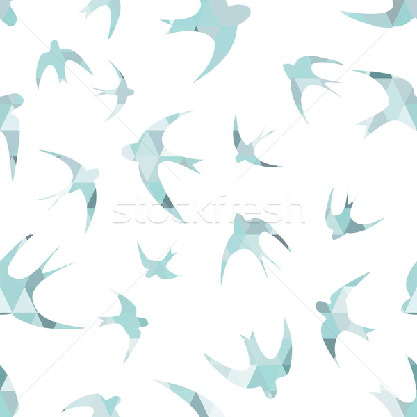 Seamless texture with the swallows Stock photo © LittleCuckoo