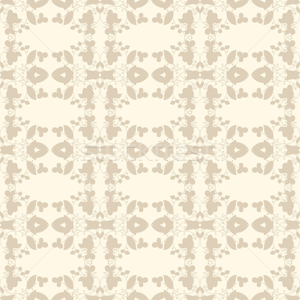 Neutral beige planta wallpaper floral ornamento Foto stock © LittleCuckoo
