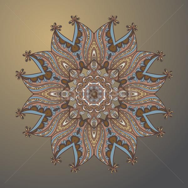 Cirkel arabisch stijl ornament achtergrond Stockfoto © LittleCuckoo