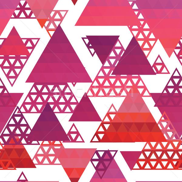 Retro pattern of geometric shapes Stock photo © LittleCuckoo