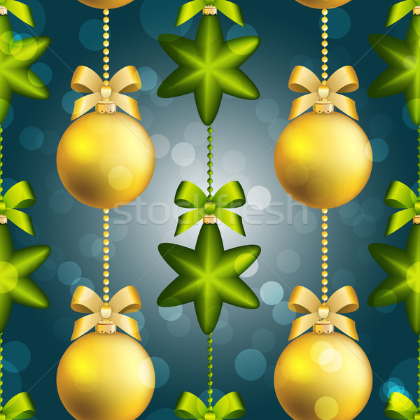 Ano novo bola padrão natal papel de parede arco Foto stock © LittleCuckoo