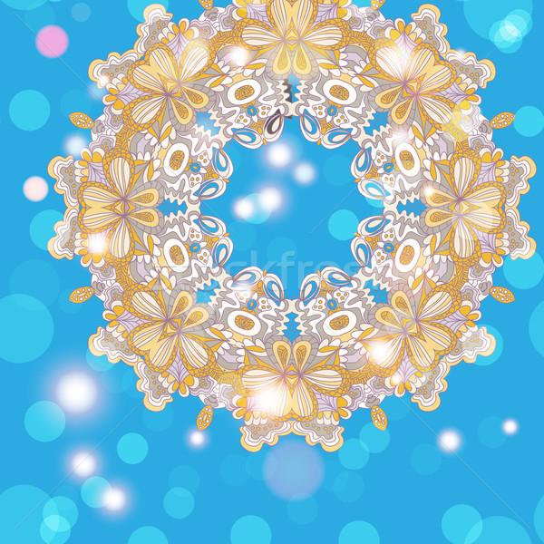 曼陀羅 飾り 幾何学的な サークル フレーム ストックフォト © LittleCuckoo