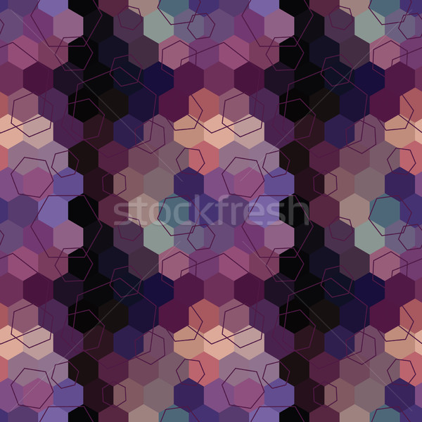 Geometric seamless hexagon abstract background Stock photo © LittleCuckoo