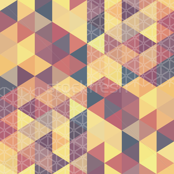 pattern geometric hexagon. with triangles Stock photo © LittleCuckoo