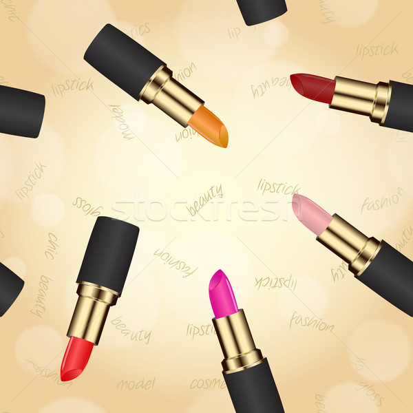 Rouge à lèvres texture cas beige bokeh Photo stock © LittleCuckoo