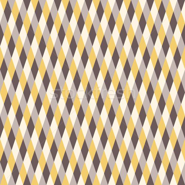 Seamless Warm Color Pattern. Rhombus Background Stock photo © LittleCuckoo