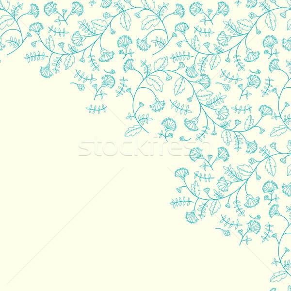 василек цветок место текста Top Сток-фото © LittleCuckoo