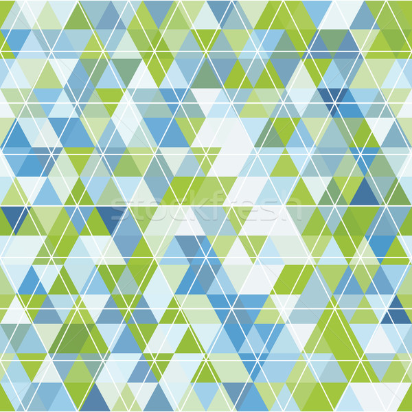 mosaic of triangles and contour drawing Stock photo © LittleCuckoo