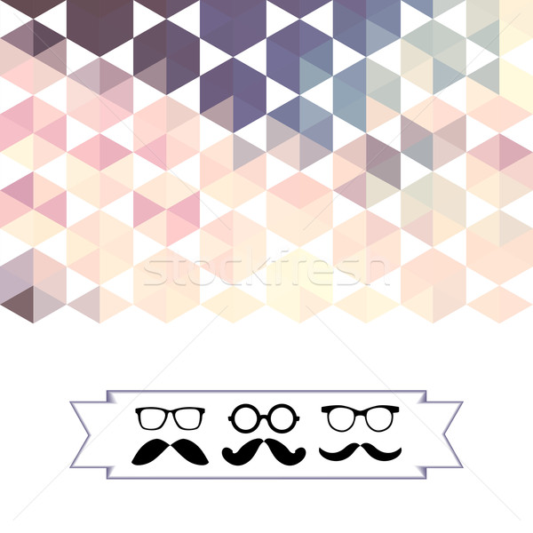mustache with glasses and hexagons triangles Stock photo © LittleCuckoo