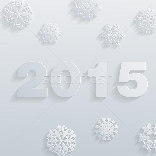 ベクトル 2015 明けましておめでとうございます タイポグラフィ スタイル ウェブ ストックフォト © LittleCuckoo