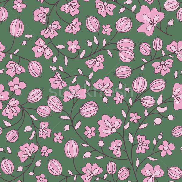 gooseberry seamless texture. vector pattern Stock photo © LittleCuckoo