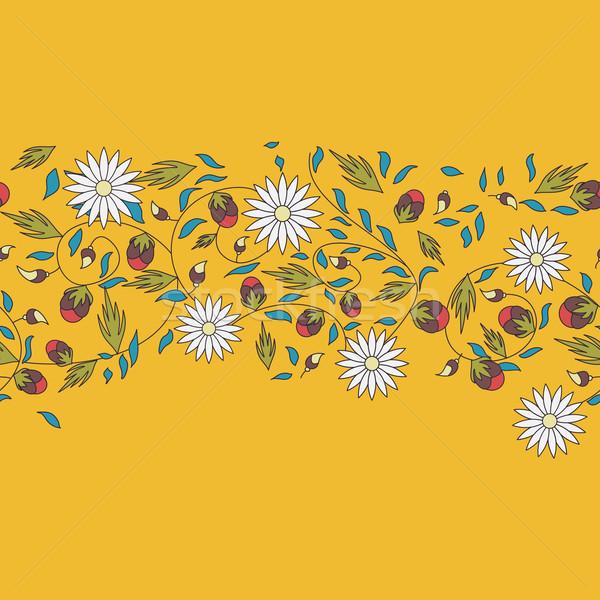 ヒマワリ 花 シームレス 自然 背景 美 ストックフォト © LittleCuckoo