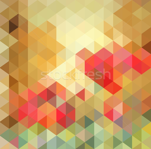 Stock foto: Abstrakten · Dreieck · geometrischen · mehrfarbig · eps10 · Textur