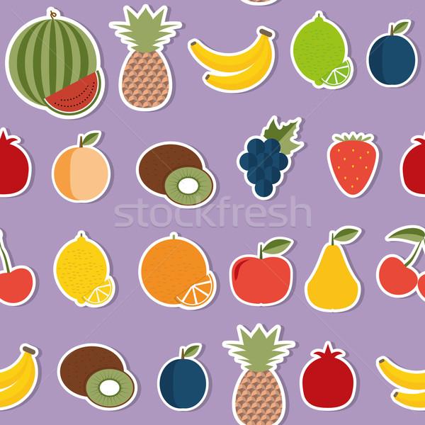 Fruto imagem frutas estilo Foto stock © LittleCuckoo