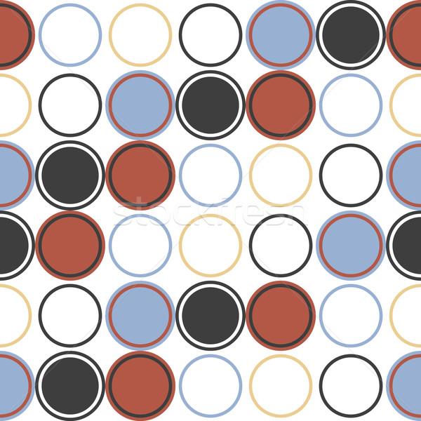 Geometria wektora wzór kółko bezszwowy ozdoba Zdjęcia stock © LittleCuckoo