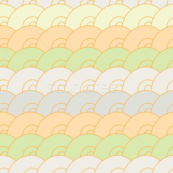 Abstract patroon cirkel naadloos cirkels zacht Stockfoto © LittleCuckoo
