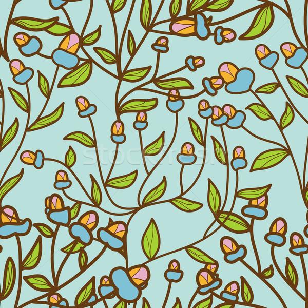 Abstract fiore bud pattern senza soluzione di continuità texture Foto d'archivio © LittleCuckoo