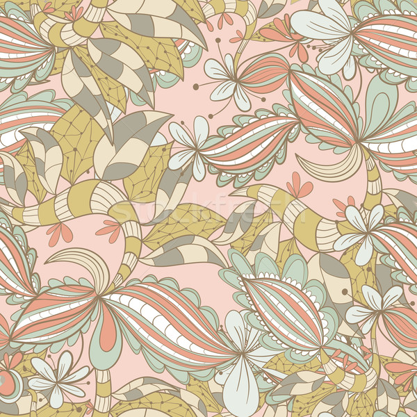 abstract hand-drawn pattern. seamless doodle taxture Stock photo © LittleCuckoo