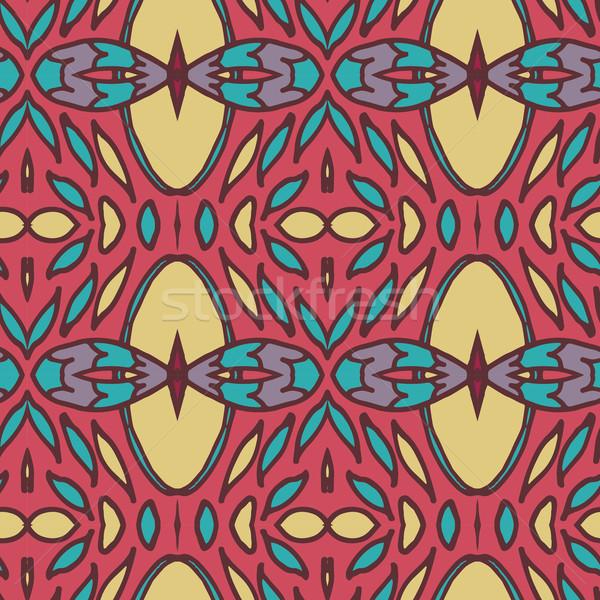Abstrakten Ornament Muster Kaleidoskop Wirkung Stock foto © LittleCuckoo