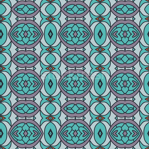 Abstract senza soluzione di continuità ornamento pattern caleidoscopio effetto Foto d'archivio © LittleCuckoo
